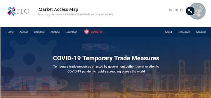 ITC launches COVID-19 dashboard and offers free access to Market Analysis Tools